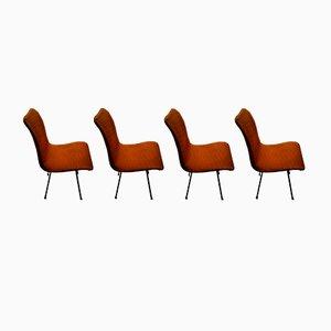 Q Rod Esszimmerstühle von Robin & Lucienne Day für Hille, 1958, 4er Set