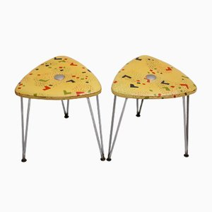 Mid-Century Viennese Stools from Guenter Talos, 1950s, Set of 2