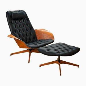Vintage Mr. Chair Leder Sessel von George Mulhauser für Plycraft