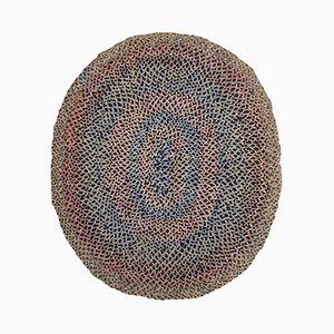 Handmade American Braided Rug, 1920s