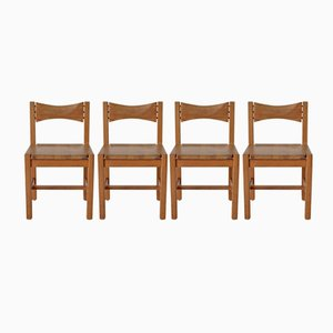 Hongisto Dining Chairs by Illmari Tapiovaara for Laukaan Puu, 1970s, Set of 4