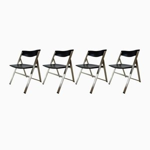 P08 Folding Chairs by Justus Kolberg for Tecno, 1991, Set of 4