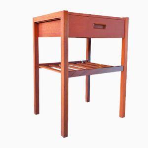 Vintage Small Teak Lamp Table