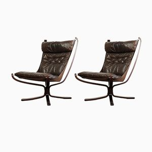 Vintage Falcon Chairs by Sigurd Resell for Vatne Møbler, Set of 2