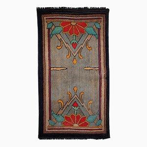 Antique Handmade American Hooked Rug, 1900s