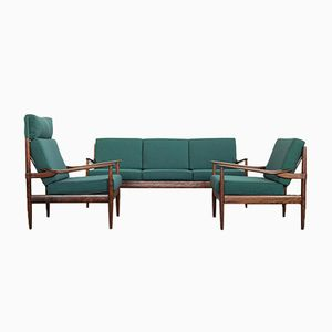 Mid-Century Walnut Seating Group from Beka