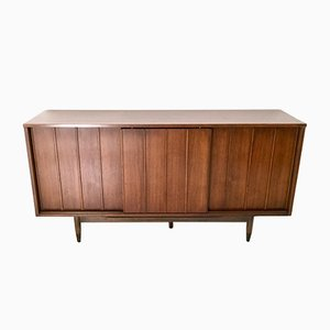 Mid-Century Walnut & Bamboo Sideboard from Mainline