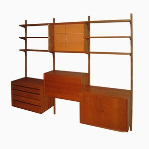 Danish Teak Wall Unit by Poul Cadovius for Royal System, 1960s