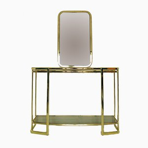 Italian Console Table & Mirror, 1970s