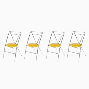 Cinderella Folding Chairs by Yamakado, 1980s, Set of 4
