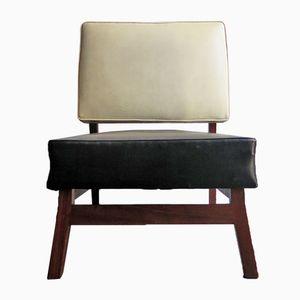 Vintage Black & Ivory Easy Chair, 1930s