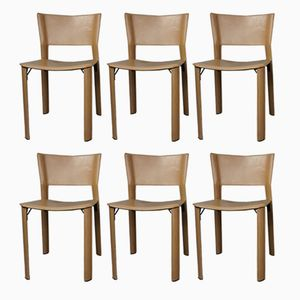 Vintage S91 Chairs by Giancarlo Vegni for Fasem, Set of 6