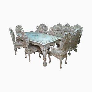 Venetian-Style Dining Room Set, 1980s