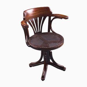 Chaise de Bureau Antique en Bois Courbé de Gebrüder Thonet Vienna GmbH