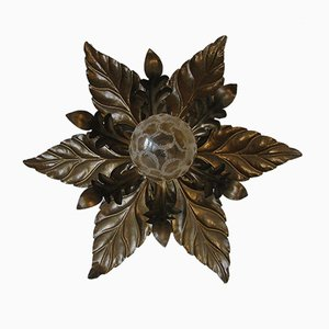 Hollywood Regency Leaf Sconce, 1970s
