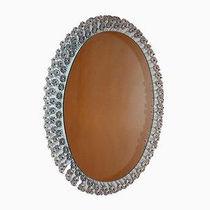 Specchio ovale con luce di Emil Stejnar per Nikoll, anni '50