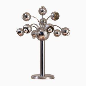 Italian Chromed Tree-Shaped Table Lamp, 1960s