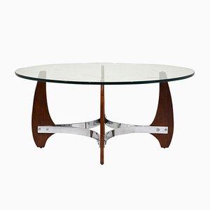 Wood & Chrome Coffee Table, 1990s