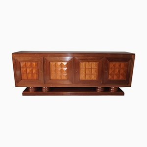 Art Deco Mahogany Sideboard by Gaston Poisson