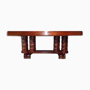 Art Deco Mahogany Table by Gaston Poisson