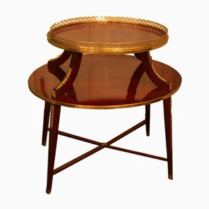 19th-Century Oval Two-Tier Table