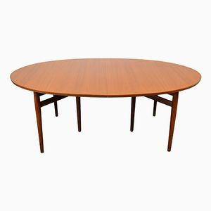 Vintage Danish Model 212 Teak Extendable Dining Table by Arne Vodder for Sibast