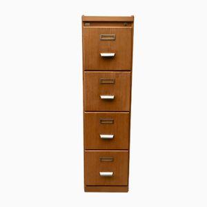 Vintage Wooden Filing Cabinet from Carl Kist