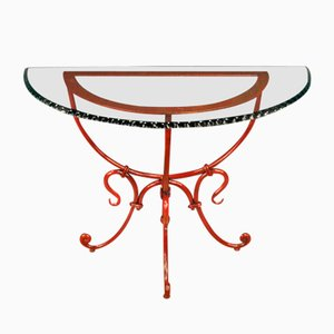 Table Console en Forme de Demi Lune, France, 1980s