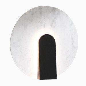 Lune Tischlampe aus Marmor und Gebeiztem Holz von Violaine d'Harcourt, 2016