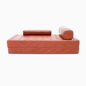 Red Leather Daybed, 1970s
