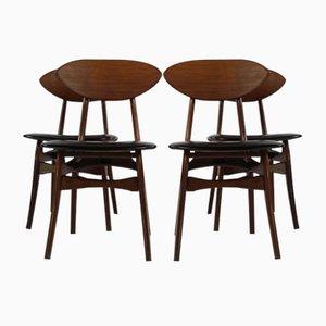 Esszimmerstühle von Louis van Teeffelen für Wébé, 1960er, 4er Set