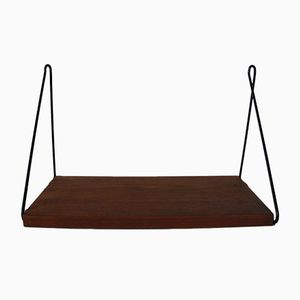 Mid-Century Teak & Metall Shelf by Kajsa & Nils Strinning for String