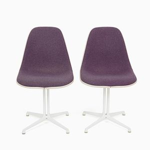 Vintage La Fonda Base Chairs by Charles & Ray Eames for Herman Miller, Set of 2