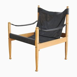 Danish Safari Armchair by Eric Wørts for Niels Eilersen, 1960s