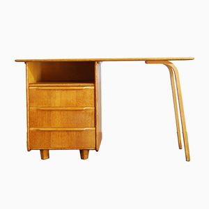 Dutch Oak Veneer Desk by Cees Braakman for UMS Pastoe, 1950s