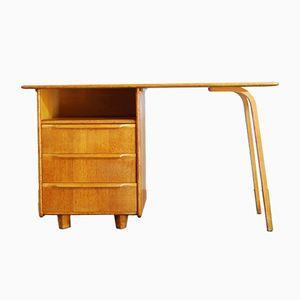 Niederländischer Eichenholz Furnier Schreibtisch von Cees Braakman für UMS Pastoe, 1950er