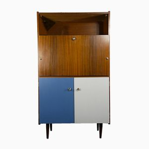 Vintage French Teak Secretaire, 1960s