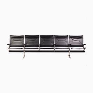 Vintage Tandem Sling 5-Sitzer Sitzbank von Charles & Ray Eames für Herman Miller