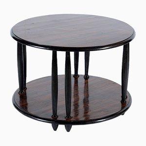 Table Basse Art Déco Laquée Noire,1920s