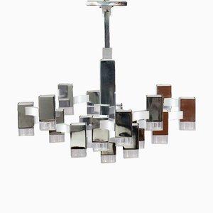 Cubic Chandelier By Gaetano Sciolari, 1970s