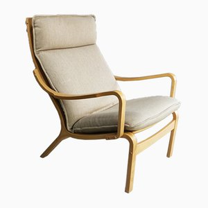 Danish Bentwood Lounge Chair from Skippers Mobler, 1970s