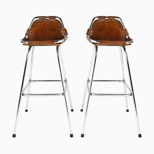 Les Arcs Ski Resort Bar Stools designed by Charlotte Perriand for Cassina, 1960s, Set of 2
