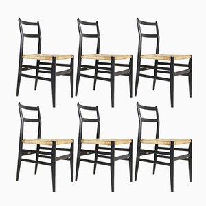 Chaises de Salon par Gio Ponti pour Cassina, Italie, 1960s, Set de 6
