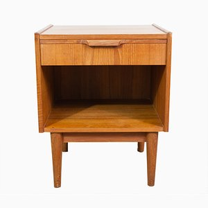 Danish Teak Single Drawer Bedside Table by Gunnar Nielsen Tibergaard, 1960s