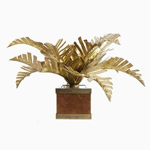 Hollywood Regency Palm Tree Table Lamp by Maison Jansen, 1970s