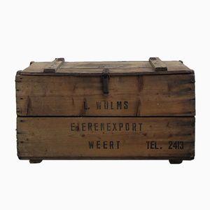 Vintage Wooden Crate, 1950s