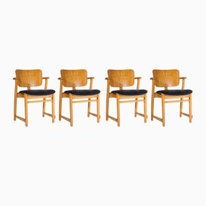 1st Edition Domus Armchairs by Ilmari Tapiovaara, 1950s, Set of 4