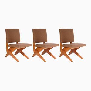 Mid-Century Scissors Stühle von Jan Van Grunsven für Pastoe, 1956, 3er Set