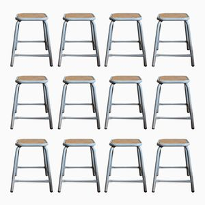 Vintage Industrial Military Stools, Set of 12