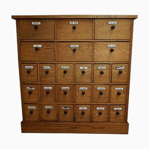 Dutch Oak Apothecary Cabinet, 1900s